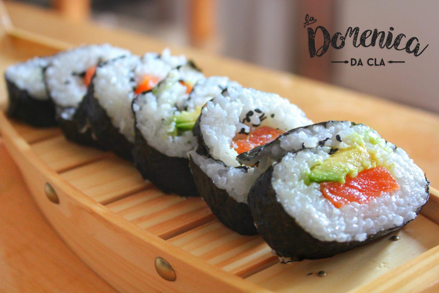 Sushi con Salmone/Avocado e Tonno/Philadelphia