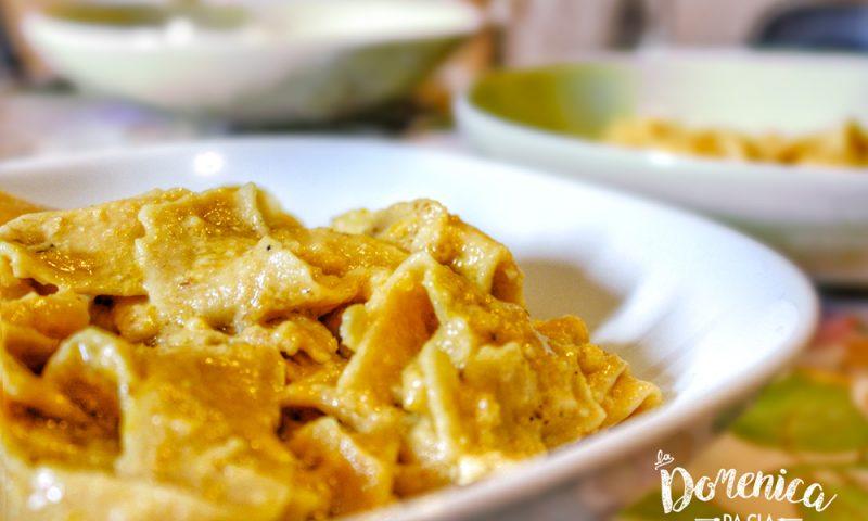 Fettuccine alla crema di zucca e noci - Domenica da Cla